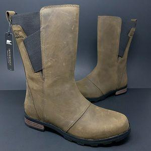 Sorel Emelie Mid Waterproof Brown Leather Boots